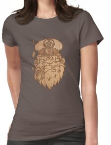 Captain Salty on Wood. Womens Fitted T-Shirt