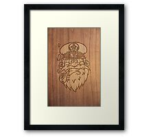 Captain Salty on Wood. Framed Print