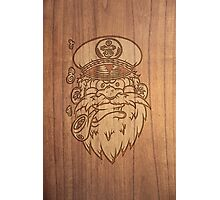 Captain Salty on Wood. Photographic Print