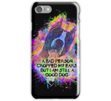 Art & Message of Pit Bull with Cropped Ears iPhone Case/Skin