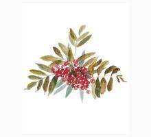 Rowan Berries, Watercolor One Piece - Short Sleeve