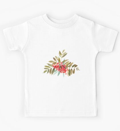 Rowan Berries, Watercolor Kids Tee