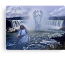 ><((((º> VISIONS WITHIN THE LIVING WATER - CHRSITIAN PICTURE AND OR CARD ECT.><((((º> Canvas Print