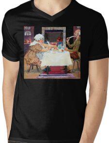 Jack Sprat Vintage Mother Goose Nursery Rhyme Mens V-Neck T-Shirt