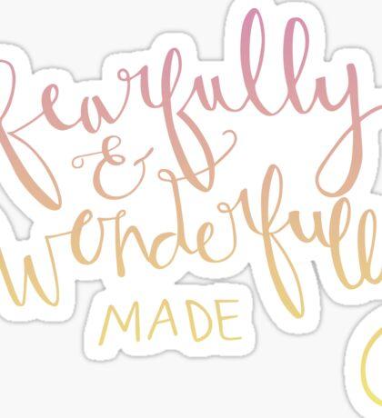 Psalm 139 : 14 Sticker
