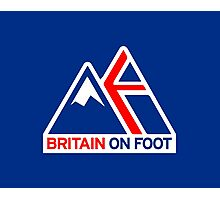 Britain On Foot Blue Photographic Print