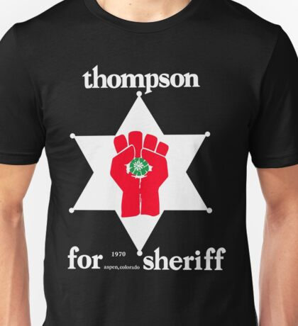 Thompson for Sheriff Vintage Campaign Logo Unisex T-Shirt