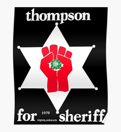 Thompson for Sheriff Vintage Campaign Logo Poster