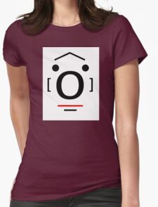 Letter Face_O Womens Fitted T-Shirt