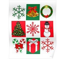 Merry Christmas - Ugly Christmas Sweater Contest. Tacky Christmas Sweater Poster