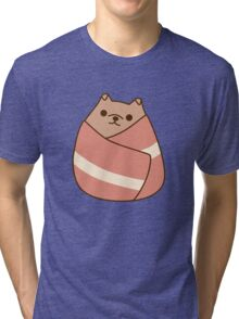 Pupsheen Wrapped in Bacon Tri-blend T-Shirt