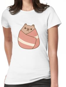 Pupsheen Wrapped in Bacon Womens Fitted T-Shirt