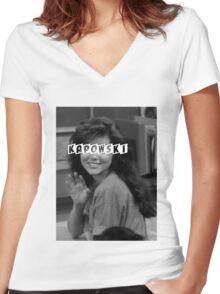 Kelly Kapowski Women's Fitted V-Neck T-Shirt