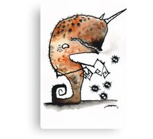narwhal monster Canvas Print