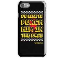 Punch Him In The Face Bloody Version iPhone Case/Skin