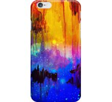 CASTLES IN THE MIST Bold Rainbow Colorful Magical Fantasy Fine Art Abstract Acrylic Painting iPhone Case/Skin
