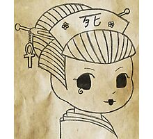 Chibi Death Geisha Photographic Print