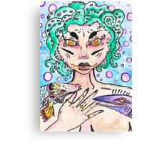 creepy mermaid Canvas Print