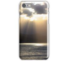 Sun rays over water iPhone Case/Skin