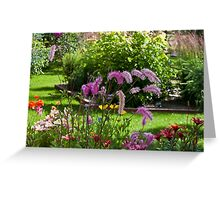 Bottle Brush In The Breeze  Greeting Card