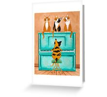 A Purrfect Piano Purrformance Greeting Card
