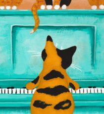 A Purrfect Piano Purrformance Sticker