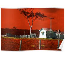 Hunter Red Country Poster