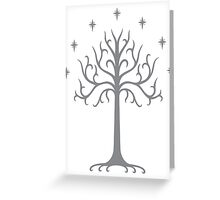 White tree of Gondor Greeting Card