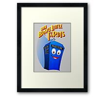 Brave Little Tardis Framed Print