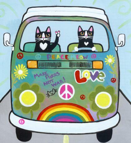 The Hippie Bus Sticker