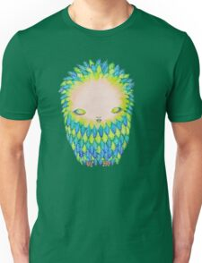 Turquoise Teal & Green Missy Bird Unisex T-Shirt