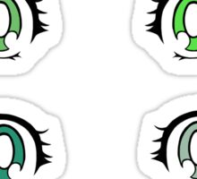 Shojou Anime Eyes - Green Assortment Sticker