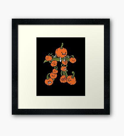 Pumpkin Pi Framed Print