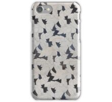 Grey Leaves Mosaic iPhone Case/Skin