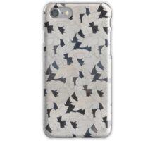 Grey Leaves Mosaic iPhone Case/Skin