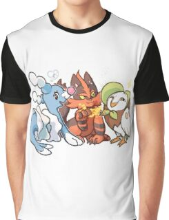 Evolved Alola Starters Graphic T-Shirt