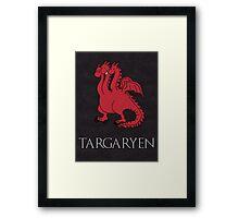 Game of Thrones - House Targaryen Sigil Framed Print