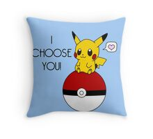 Pokemon Pikachu Valentine's Day Design! (Blue) Throw Pillow