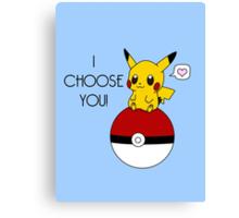 Pokemon Pikachu Valentine's Day Design! (Blue) Canvas Print