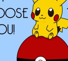 Pokemon Pikachu Valentine's Day Design! (Blue) Sticker