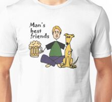 Funny and Col Man's Best Friends Dog and Beer Unisex T-Shirt
