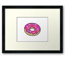 Doughnut coloured Framed Print