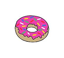 Doughnut coloured Photographic Print
