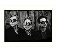 Depeche Mode : Fletch, Martin, Dave with welding glass Art Print