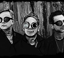 Depeche Mode : Fletch, Martin, Dave with welding glass by Luc Lambert