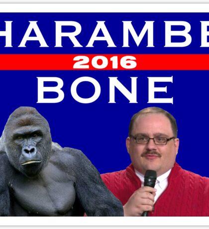 Harambe Bone 2016 political ad Sticker