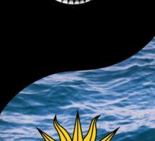 Yin Yang Ocean Sun and Moon Sticker