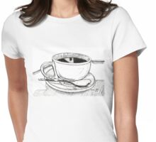 It's wet and warm! Womens Fitted T-Shirt