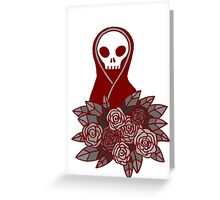 Reaper Bouquet ~ Red Lines Greeting Card