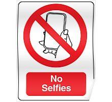 No Selfies Poster